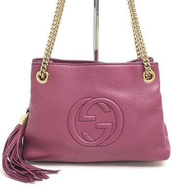 [Goods] Sooch with Gucci gold chain shoulder tassel charm 387043 · 498879 [Shoulder bag] [pre-owned]