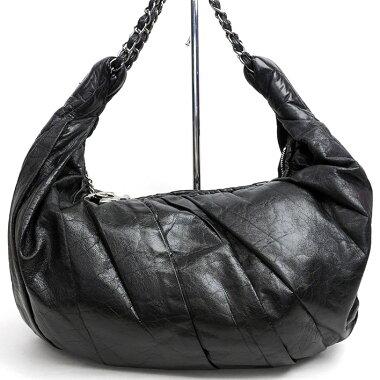 Chanel One Shoulder Silver Chain Coco Mark [Shoulder Bag] [Used]
