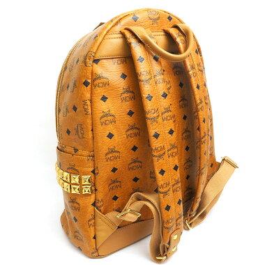 [Beauty goods] MCM Embroidery MCM pattern side studs Stark medium size logogram MMK 5 SVE 38 [Backpack · Luc] [pre]
