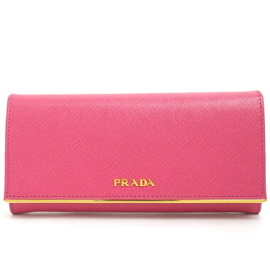 [Beautiful goods] Sappiano 1MH132 [long wallet] [used] with Prada bi-fold long wallet gold hardware ID card holder