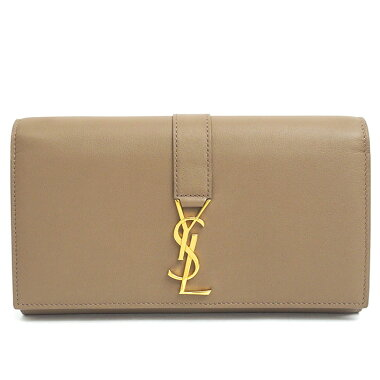 [Almost new] Yves Saint Laurent bifold long wallet gold metal fittings 414567BJ50J2346 [long wallet] [used]
