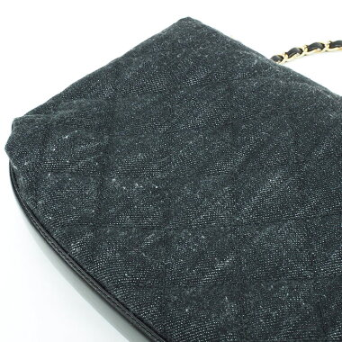 [美 品] Chanel Denim Matrasse W Flap W Chain Shoulder Gold Hardware Matrasse [Shoulder Bag] [Pre]