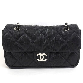 [GOODA] [Carefully selected products] [Used] [Good Condition] Chanel W Chain Shoulder Quilted Wrinkled Silver Hardware Matrasse A39078 [Shoulder Bag] Gift Present