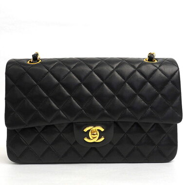 [Good Condition] Chanel 25W Chain W Flap Gold Hardware Matrasse A01112 [Shoulder Bag] [Used]
