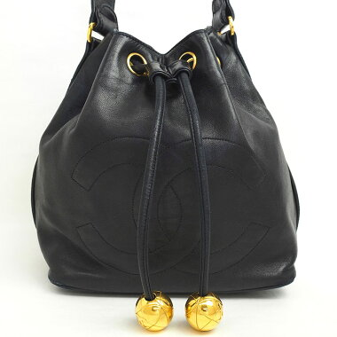 d3b615319c06 Chanel Vintage Drawstring Chain Shoulder Ball Charm with Coco Mark   Shoulder Bag   Pre
