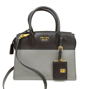 [Beauty goods] Prada Esplanade 2 WAY Bicolor Shoulder Gold Hardware 1 BA 045 [Handbag] [Pre]