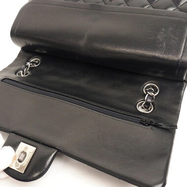 [Beautiful goods] 25 W chain W flap silver clasp Matrasse A01112 [Shoulder bag] [pre-owned]