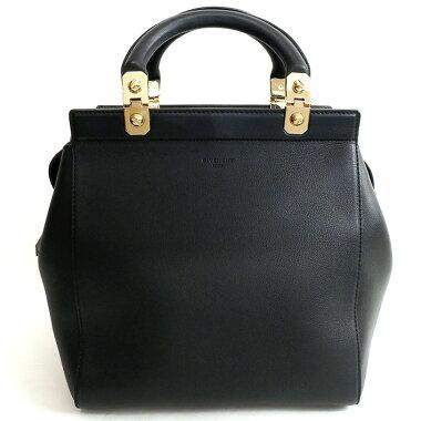 【美品】ジバンシィ2WAYショルダーロゴ入りゴールド金具【ハンドバッグ】【中古】