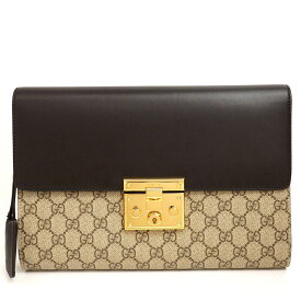 [10% OFF in Rakuten Super SALE] [Up to P39 times in entry] [GOODA published] [Selected Items] [Pre-owned] [Good Condition] Gucci GG Pattern Second Bag Gold Hardware GG Supreme 432125 493492 [Clutch Bag]