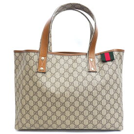 [GOODA publication] [Carefully selected products] [Used] [Almost new] Gucci GG plus Shelly line shoulder bag GG Supreme × Web 211134 493075 [Tote bag]