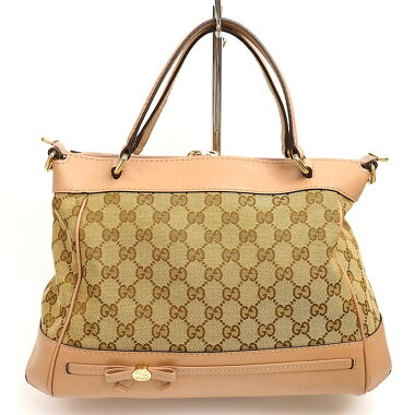 [美 品] Gucci Mayfair GG pattern 2 WAY shoulder ribbon motif GG canvas 269894486628 [Handbag] [pre]