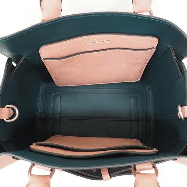 【未使用品・新古品】バーバリースモールレザーベルトバッグ2WAYショルダーバッグシルバー金具【ハンドバッグ】【中古】