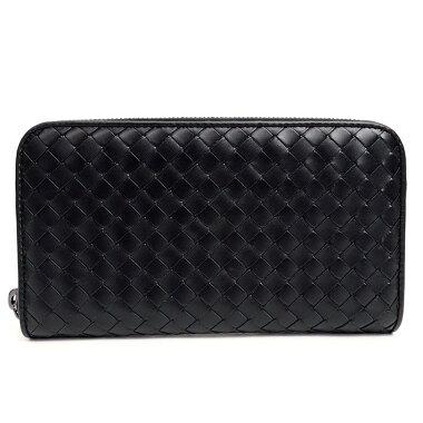 [Used] [almost new] Bottega Veneta round fastener long wallet Inlet chart 114076V4651 [long wallet] [used]