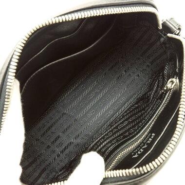 【Pre-owned】 [almost new] Prada crossbody chain shoulder pochette silver bracket diagram 1BH083 [shoulder bag] [pre-owned]