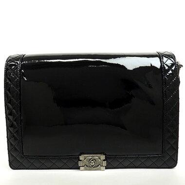 [Used] [Beautiful] Chanel chain shoulder bag enamel antique silver metal fittings Boy Chanel [shoulder bag] [used]