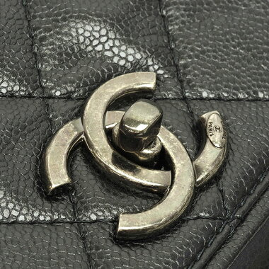 [Used] [almost new] Chanel Medium Shopping Tote Shoulder Gun Metal Coco Mark A90451 [Tote Bag]