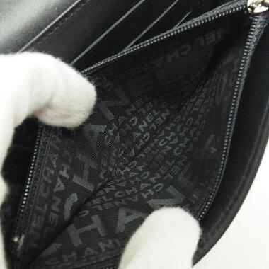 【中古】【美品】シャネルマトラッセステッチロゴミディアムウォレットA30072【二つ折り財布】