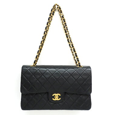 [Pre-owned] [Goods] Chanel 25 W chain W flap gold fittings Matrasse A01112 [Shoulder bag]