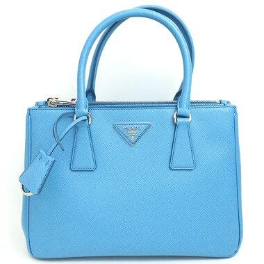 [Used] [almost new] Prada 2WAY shoulder triangle logo silver metal fittings Saffir Norx 1BA863 [handbag]