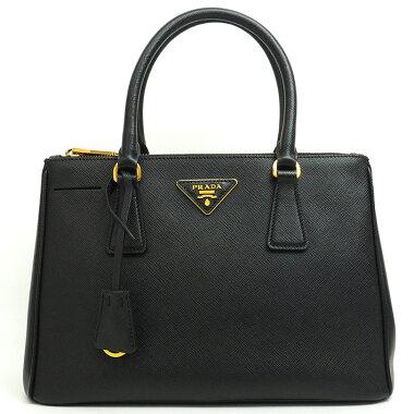[Used] [Good Condition] Prada 2WAY Shoulder Triangle Logo Gold Hardware Saffir Norx 1BA863 [Handbag]