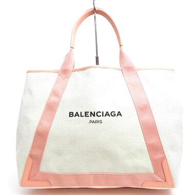 【中古】【ほぼ新品】バレンシアガMミディアムマザーズバッグショルダーバッグネイビーカバM339936・5781・D・002123【トートバッグ】