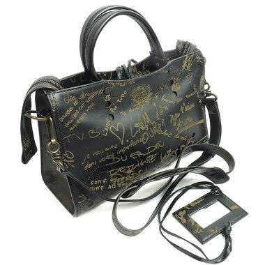 [Used] [Almost new] Balenciaga S Small Graffiti Valentine Limited 2WAY Shoulder Blackout City 443516 / B ・ 002123 [Handbag]