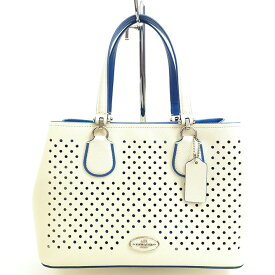 [Used] [Good Condition] Coach Small Kit Punching Perforated Leather 2WAY Shoulder Carryall 34971 [Handbag]