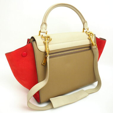 [Pre] [Goods] Celine Small Tricolor 2 WAY shoulder bag multi-colored Trapeze 174683 [Handbag]