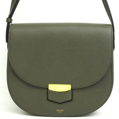[Preowned] [Goods] Celine compact gold clasp diagonally mounted cross body trotter 179013ZMB.09ST [Shoulder bag]