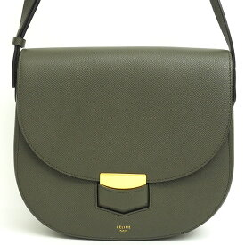 [Used] [Good Condition] Celine compact gold metal fitting diagonally cross body trotter 179013ZMB.09ST [shoulder bag]