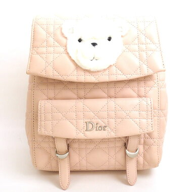 [Used] [Good Condition] Christian Dior Cannage Kids Bear 2017AW Baby Dior [Backpack / Backpack]