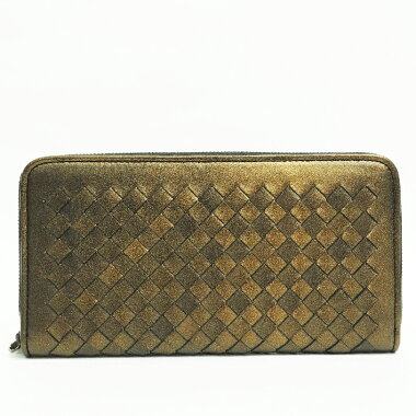[Pre-owned] [almost new] Bottega Veneta round fastener long wallet intorechitchi 114076 V0041 1203 [long wallet]