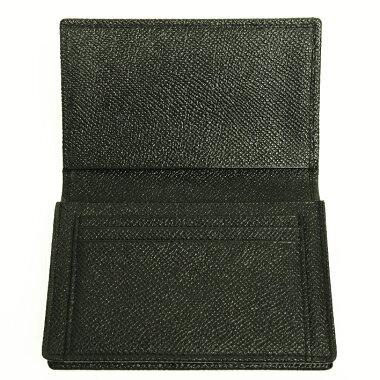 【中古】【美品】ブルガリ型押しロゴ名刺入れ20361カードケース【小物・雑貨】