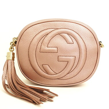 [Pre-owned] [Almost new] Gucci double G mini chain bag Pochette Tassel with Soho 353965498879 [Shoulder bag]