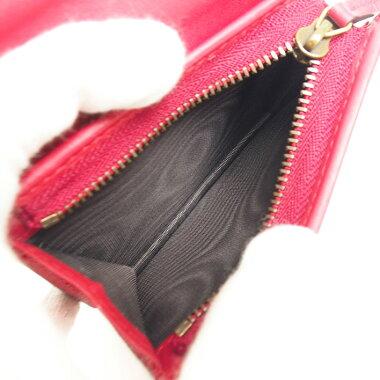 【中古】【美品】グッチクイーンマーガレットビー蜂モチーフ折りたたみ財布パール&クリスタルビジュー付き476072・525040【二つ折り財布】