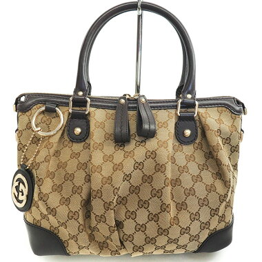 [Used] [almost new] Gucci GG pattern sukie 2WAY shoulder bag GG canvas 247902520981 [handbag]