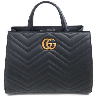 [Pre-owned] [Almost new] Gucci quilted stitch 2WAY shoulder bag antique gold hardware GG Marmont 448054000926 [handbag]