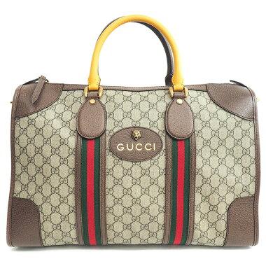 [Used] [Unused / New / Old] Gucci GG Pattern Shelly Line Duffel Bag 2WAY Shoulder Bag Tiger Head GG Supreme x Web 480500/527066 [Boston Bag]