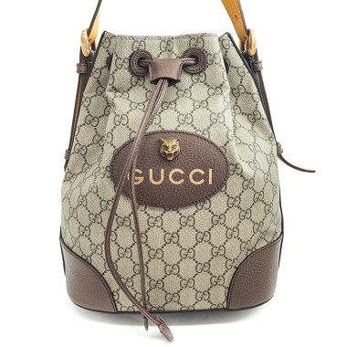 [Used] [almost new] Gucci GG pattern Shelly line Tiger head 3WAY handbag shoulder bag drawstring type GG Supreme × web 473875 · 520981 [Backpack rucksack]