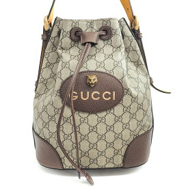 [10% OFF in Rakuten Super SALE] [Up to P39 times in entry] [GOODA published] [Used] [Almost new] Gucci GG Pattern Shelly Line Tiger Head 3WAY Handbag Shoulder Bag Drawstring Type GG Supreme × Web 473875 · 520981 [Backpack ·Ruck sack】