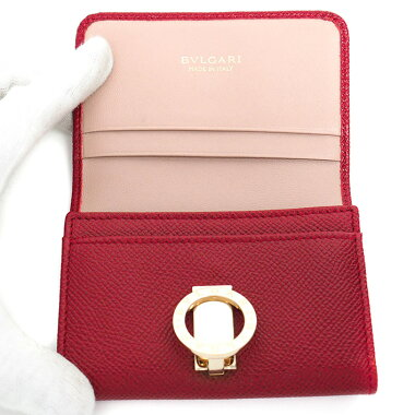 [Used] [Good Condition] Bulgari Gold Logo Clip Card Holder Business Card Holder Bulgari Bulgari 281430 Card Case [Accessories]