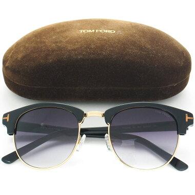 【中古】【美品】トムフォードTマークサーモントブロウ型ヘンリーTF0248レディースサングラス【小物・雑貨】
