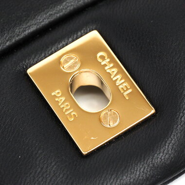 【中古】【ほぼ新品】シャネル30WチェーンWフラップゴールド金具デカマトラッセマトラッセA28600【ショルダーバッグ】
