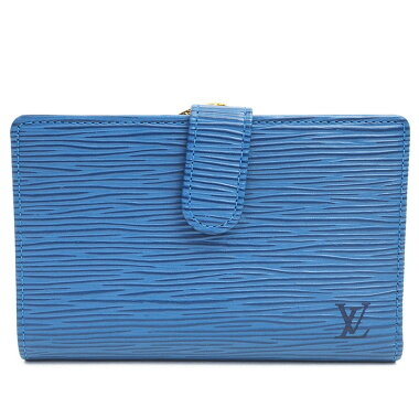 【中古】【ほぼ新品】ルイヴィトンポルトモネビエ・ヴィエノワエピM63245【二つ折り財布】