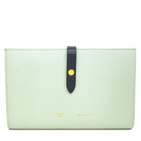 [Used] [Good Condition] Celine Large Multi-function Strap Folded Bicolor Long Wallet 104873A15.29PG [Long Purse]
