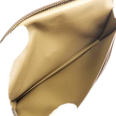 【中古】【未使用品・新古品】エルメス二つ折りロングウォレットシルバー金具ベアンスフレ【長財布】