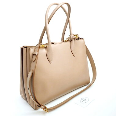 [Used] [almost new] Prada 2WAY shoulder bag gold metal fittings vibrio take 1BG098 [tote bag]