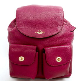 [New Arrival] [Used] [Almost New] Coach Billy Rucksack Gold Hardware F37410 [Backpack Rucksack]