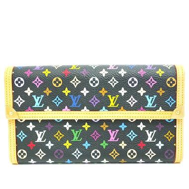 [Used] [almost new] Louis Vuitton Portolezor International Monogram Multicolor M92658 [long wallet]