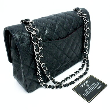 [Used] [almost new] 25W chain W flap silver metal mattresse A01112 [shoulder bag]